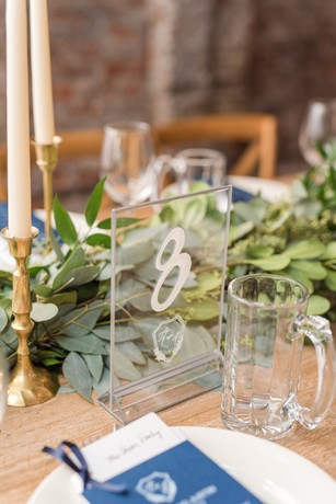 acrylic wedding table number