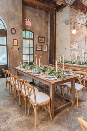 industrial chic wedding reception