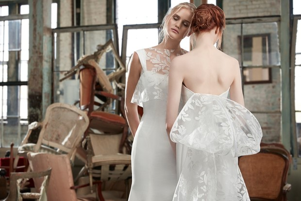 Cosette and Claudette gowns by Sareh Nouri