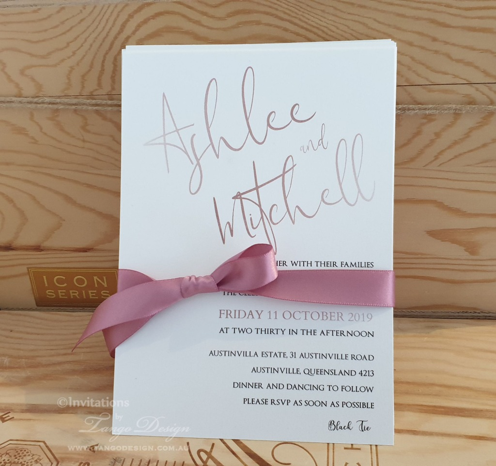 Dusty Pink modern invitation