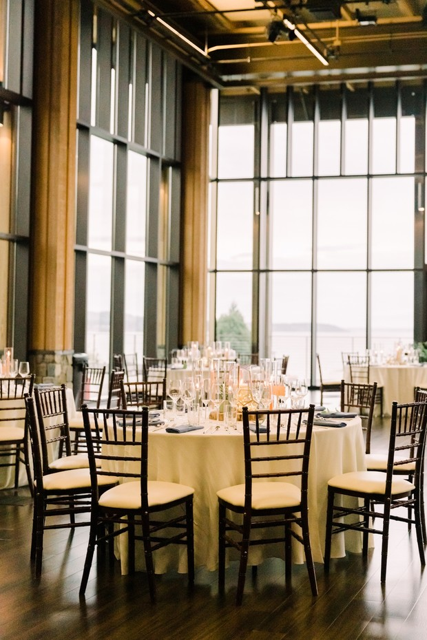 indoor wedding reception space