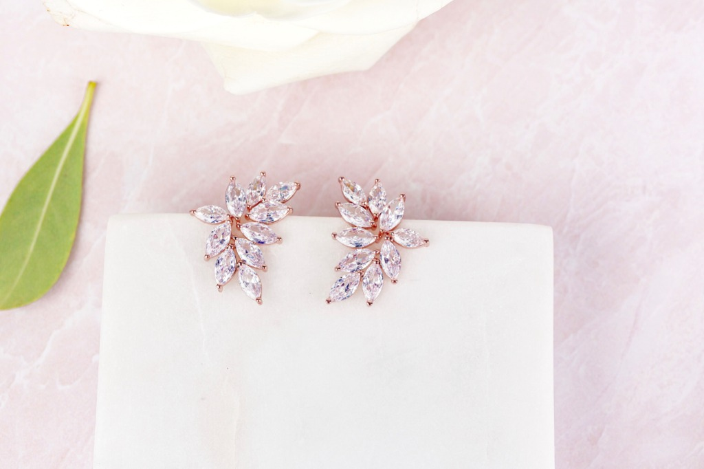 The gorgeous Chloe bridal earrings are an enchanting accessory for the bride or her bridesmaids. Find more great wedding jewelry at