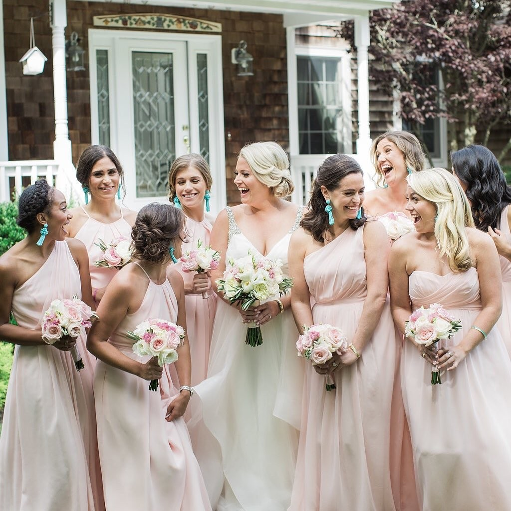 Katie & Her maids || hair by Crystal & N3 || makeup by Erica & Marci || 📷
