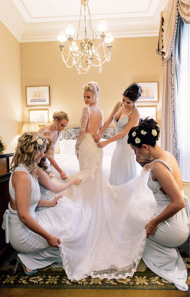 Bride with her Bridesmaids!