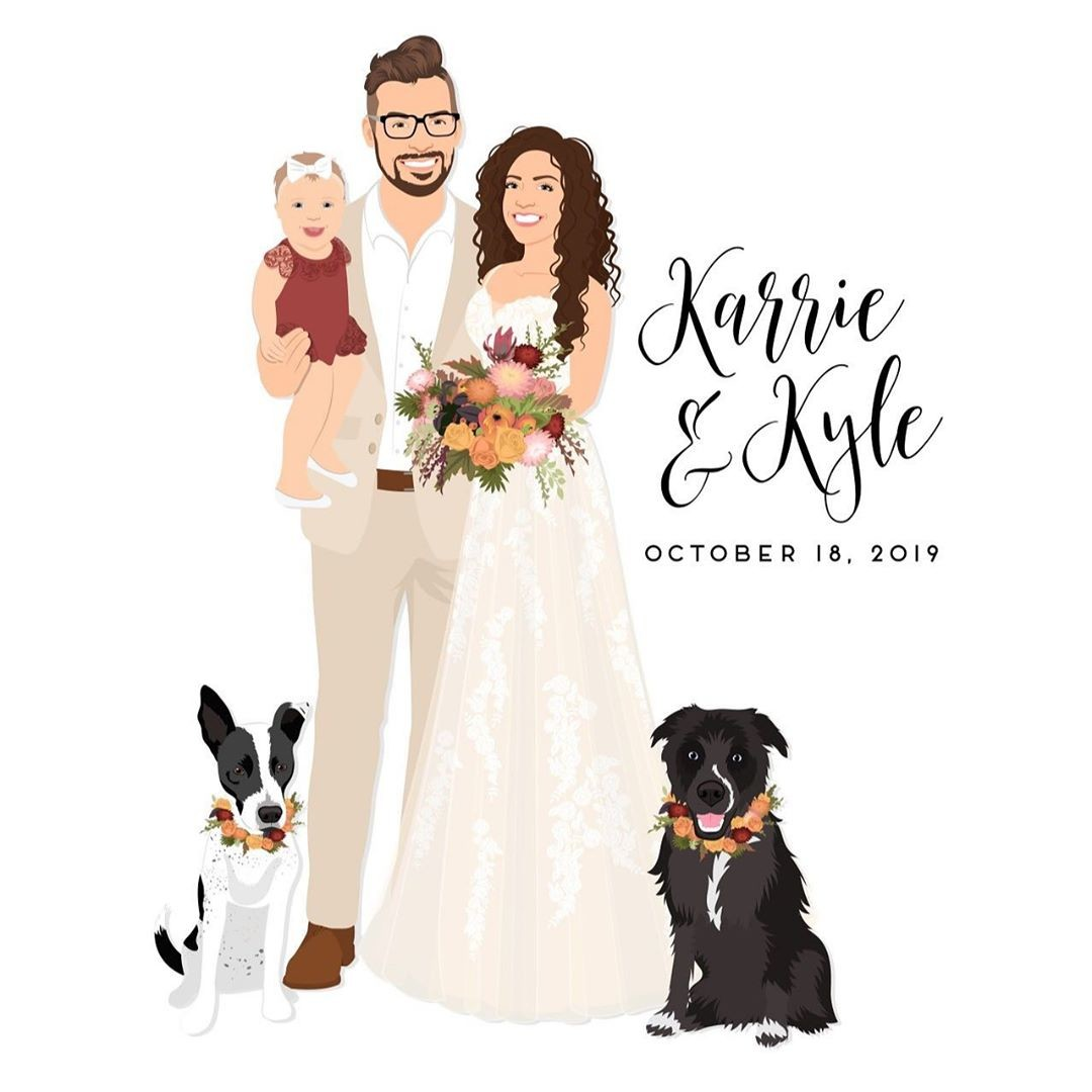 The bouquet and flower collars are just the perfect autumn wedding colors! And how beautiful is this family?? 😍 We love all of the
