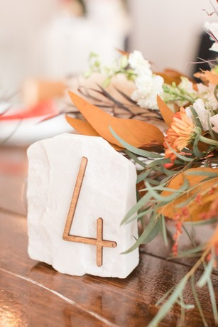stone wedding table number