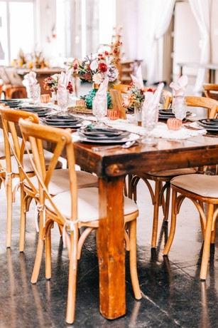 rustic chic wedding table decor