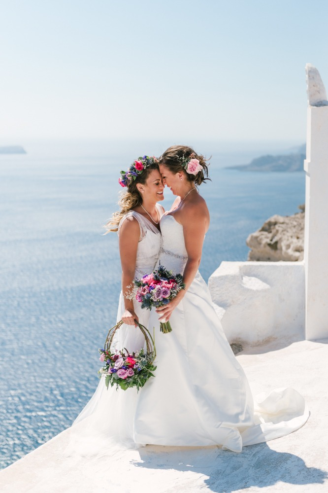 Same Sex wedding in Santorini!