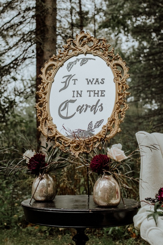 it was in the cards wedding sign