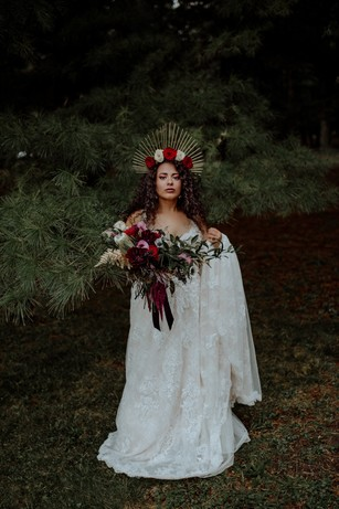 tarot card inspired bridal style