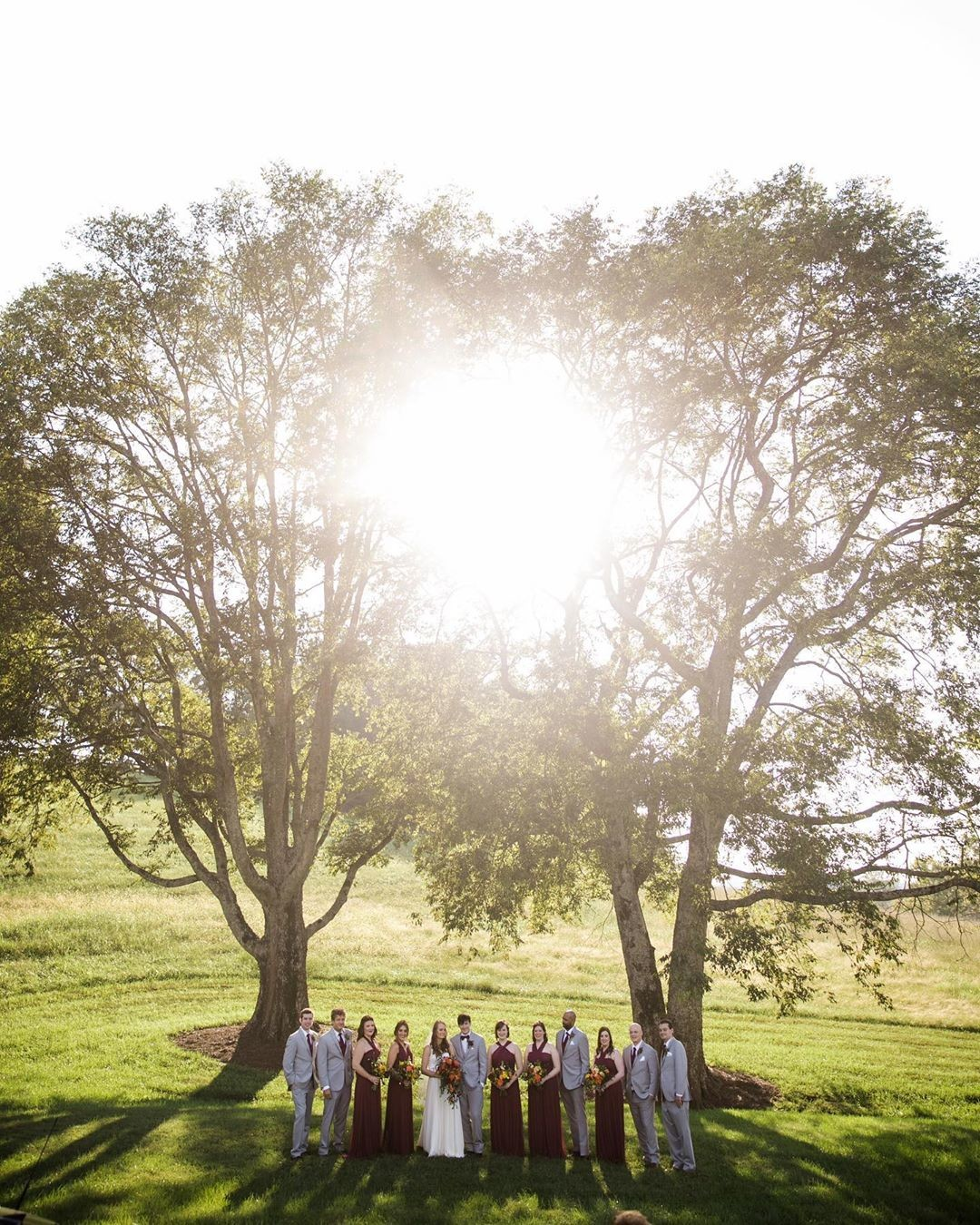 Yesterday we celebrated the perfect sky during the wedding ceremony...today we are showing the love for the perfect fall sunlight through