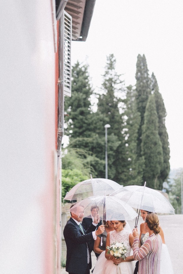 Rainy day wedding in Italy