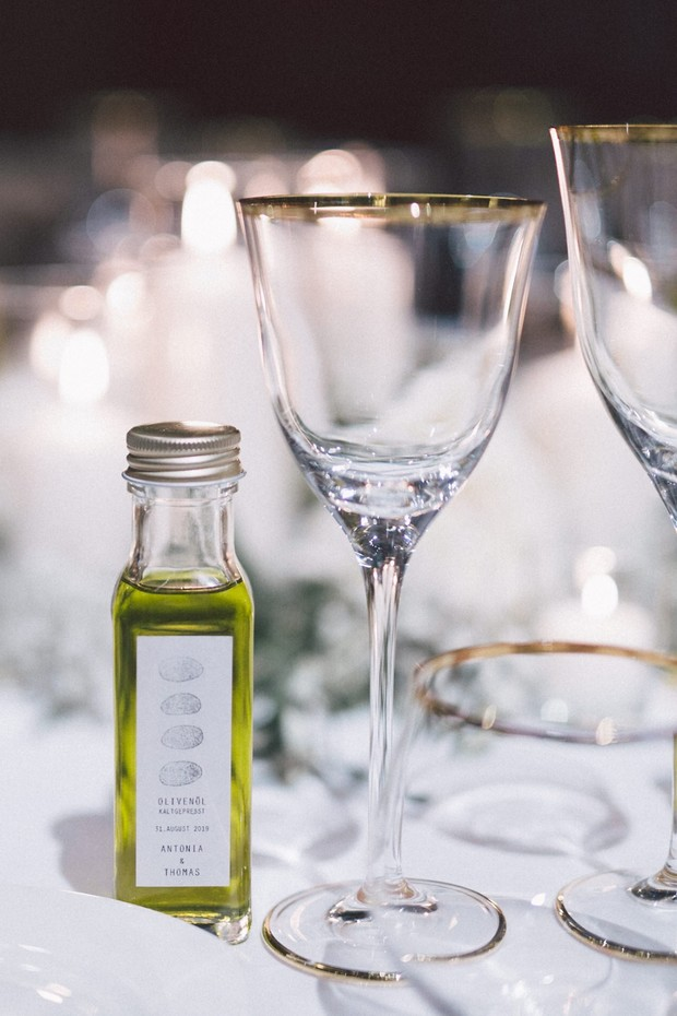 wedding olive oil favors