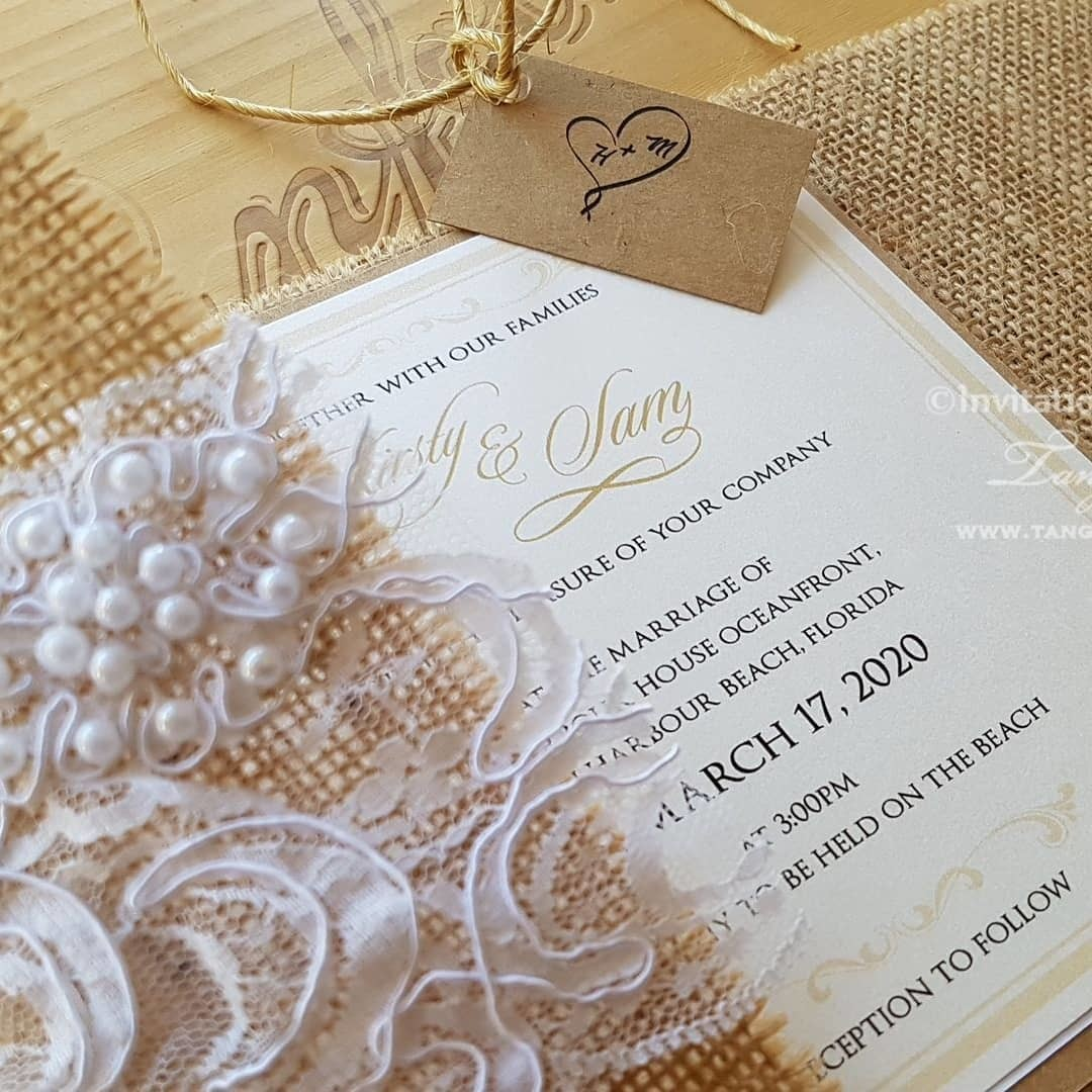 Today's rustic invitation samples, on their way to the USA.