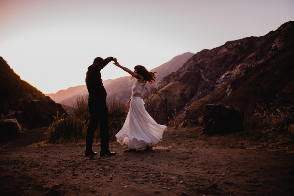 After getting married in Kings Canyon National Park, we stopped to take some time to enjoy the insane sunset.