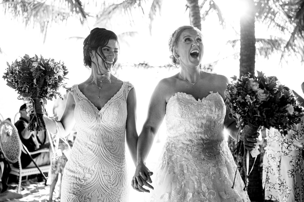 Elisa & Renae in Phu Quoc, Vietnam. They all look amazing in wedding dress.