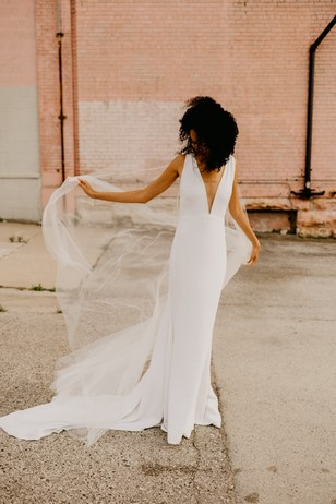 wedding dress by Alyssa Kristin