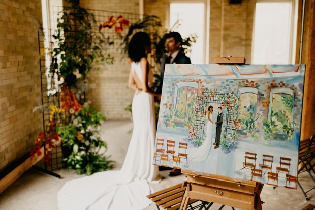 wedding day painting
