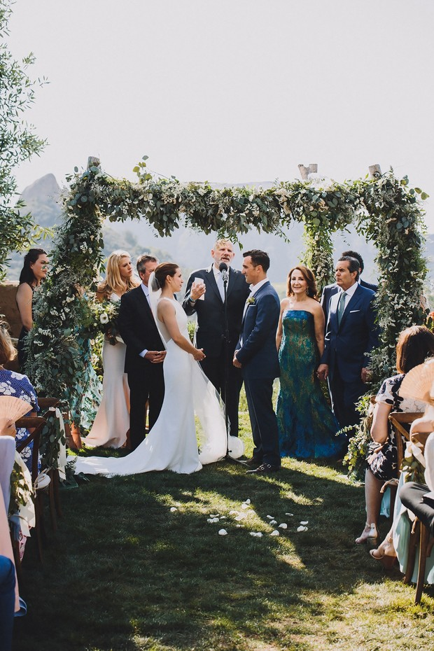outdoor wedding ceremony in California