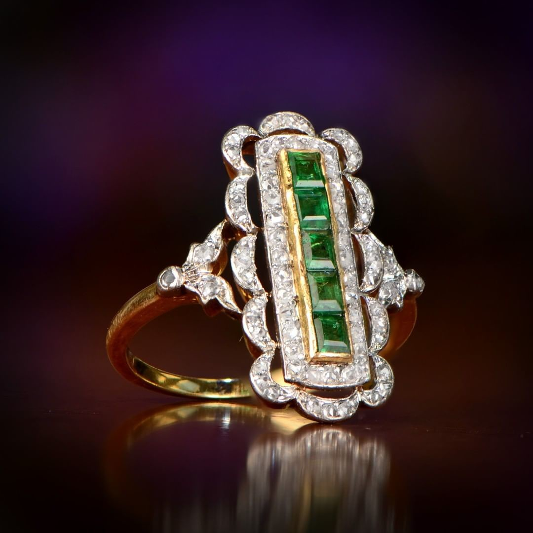 Guess when this antique ring was handcrafted?