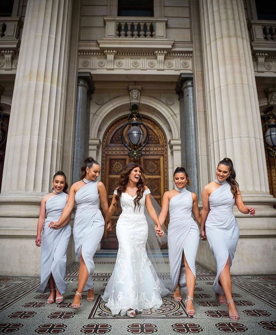 REAL RUNWAY // Marie with her beautiful #bridesmaids