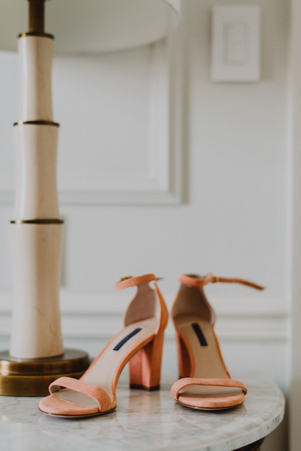 coral wedding shoes