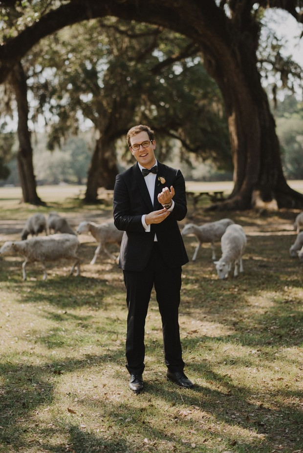 groom in classic suit