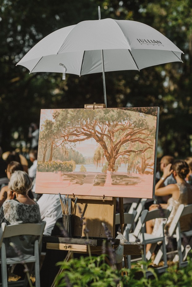 live wedding painting