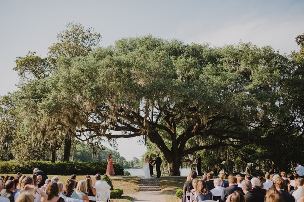 romantic outdoor wedding ceremony in South Carolina