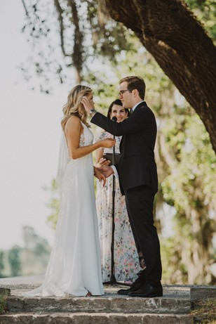 sweet candid wedding couple ceremony photo