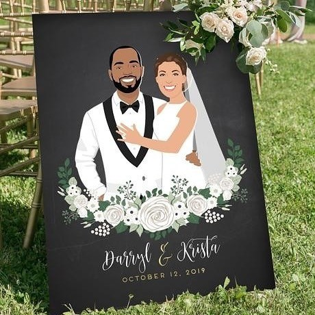 Winter may be approaching, but fall is still going strong! 🍂 If you've got an outdoor ceremony, this is the perfect welcome sign