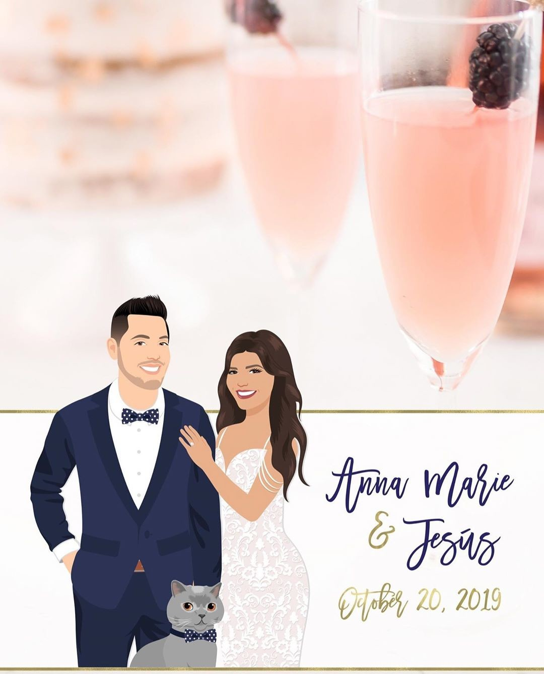 A digital wedding favor? We got you! 😉 These custom Snapchat filters are not only a fun way for your guests to interact at your