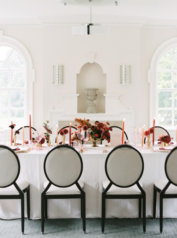 Fall wedding reception table