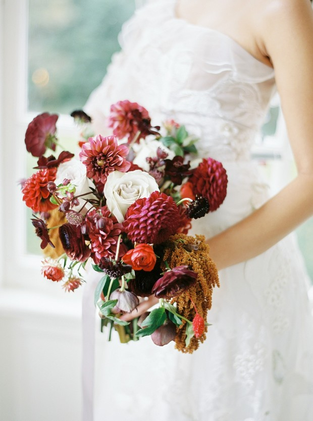 Fall colors wedding bouquet