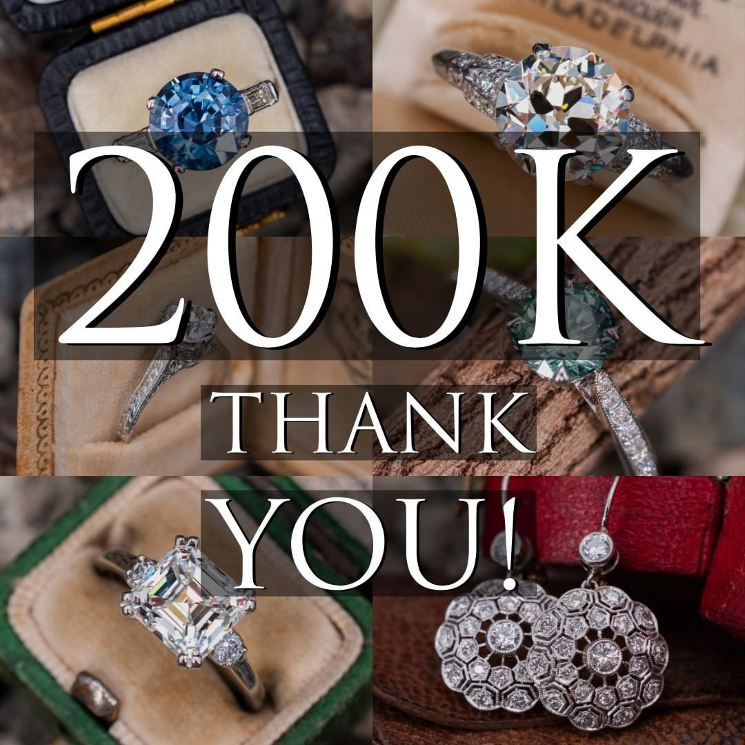 Thank you to every one of our 200k followers. We feel the love and look forward to finding many more beautiful pieces of jewelry to