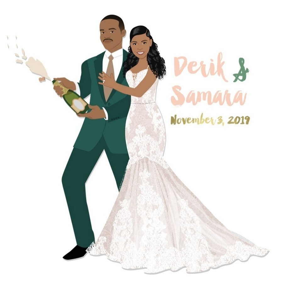 What just dropped, you ask? Oh, only our JAWS! 😍 This couple is stunning, with that deep green suit and detailed gown! We see some