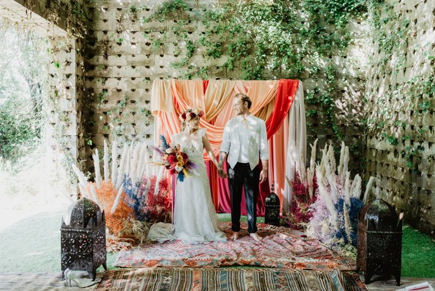 Colorful Moroccan wedding ceremony