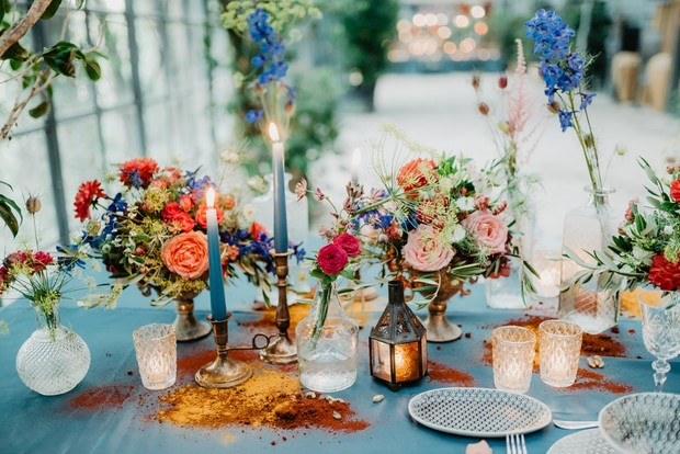 Moroccan wedding table decor