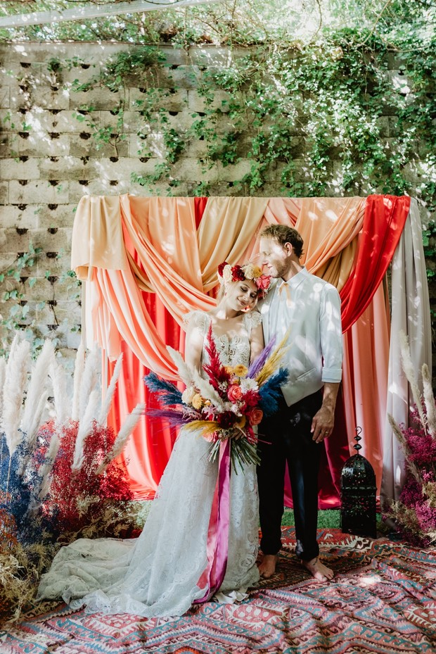 Colorful Moroccan ceremony