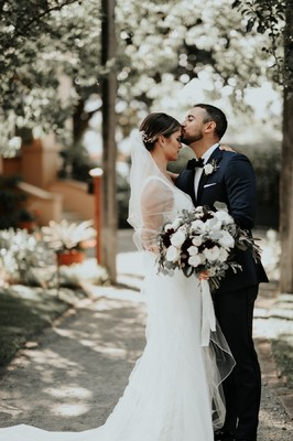 Burgundy And White Tuscan Style Vineyard Wedding
