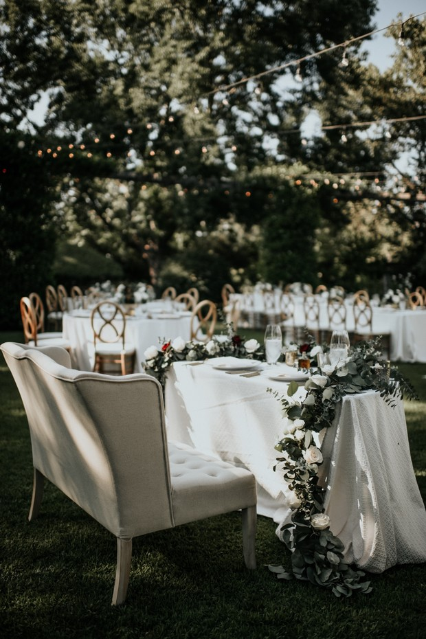 romantic and chic sweetheart table