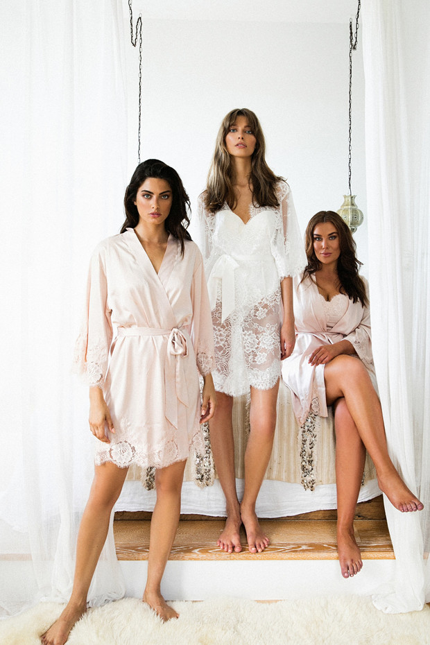 luxury bridal party robes