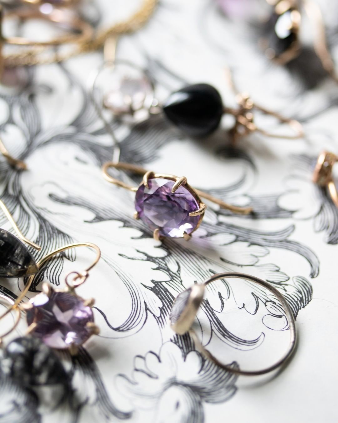 Never enough purple in my life. Shop online or local @fitzgeraldjewelry