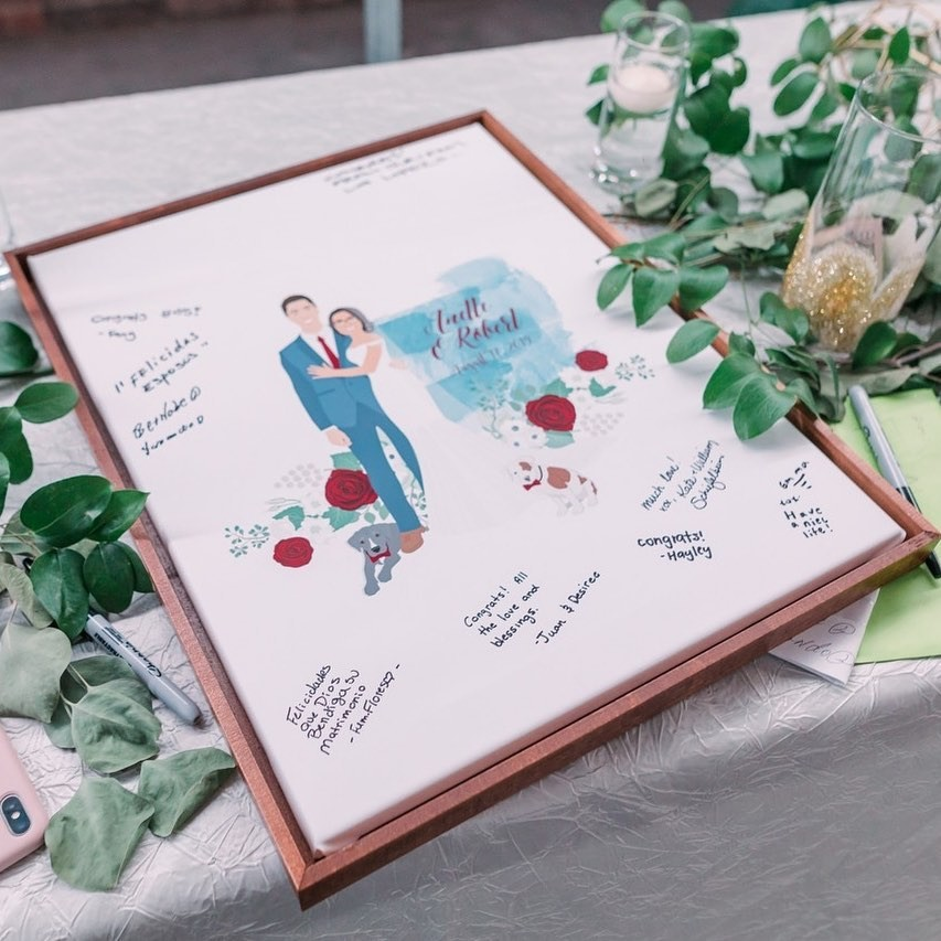 This guestbook display sent by @anette_ads is just gorgeous