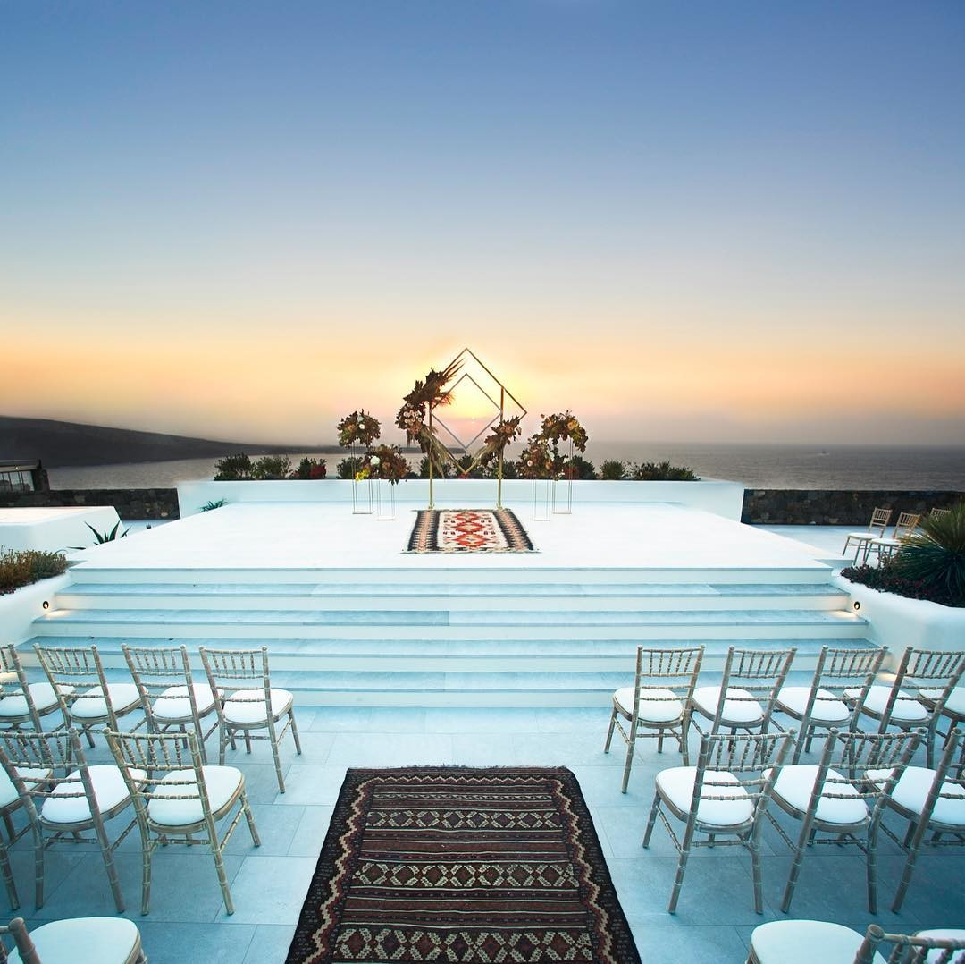 Sunset Terrace @ Canaves Oia Epitome... Your dream wedding from a different perspective...