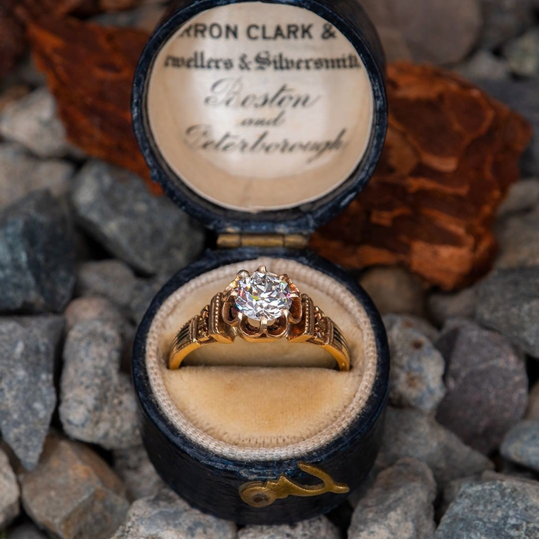 Authentic Victorian Engagement Ring. Tap photo for a link to purchase. Sku EJ16139.