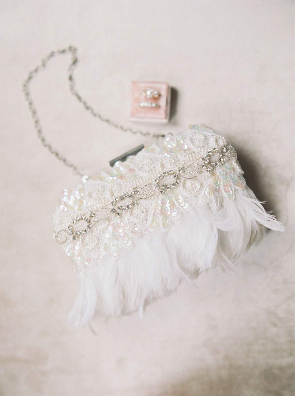 Brand New!! Ivory ostrich feather with rhinestone detail. #amusthave
