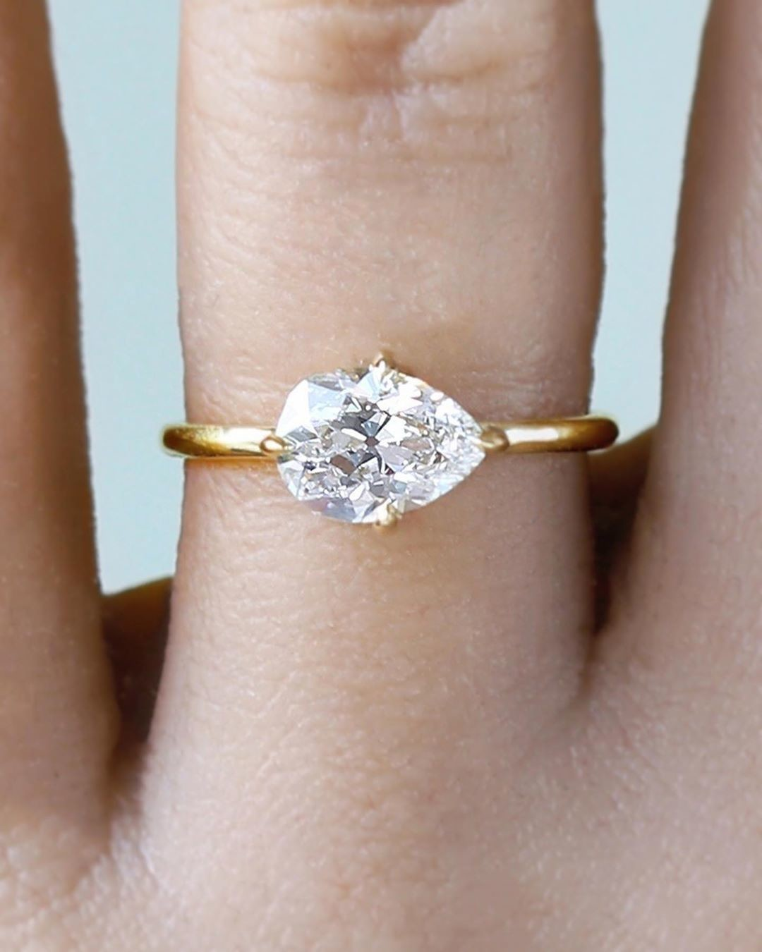 Old Cut Diamond Lovers Rejoice 💫✨ So excited to share our new minimal and low profile 1.38ct old cut pear diamond solitaire. Up