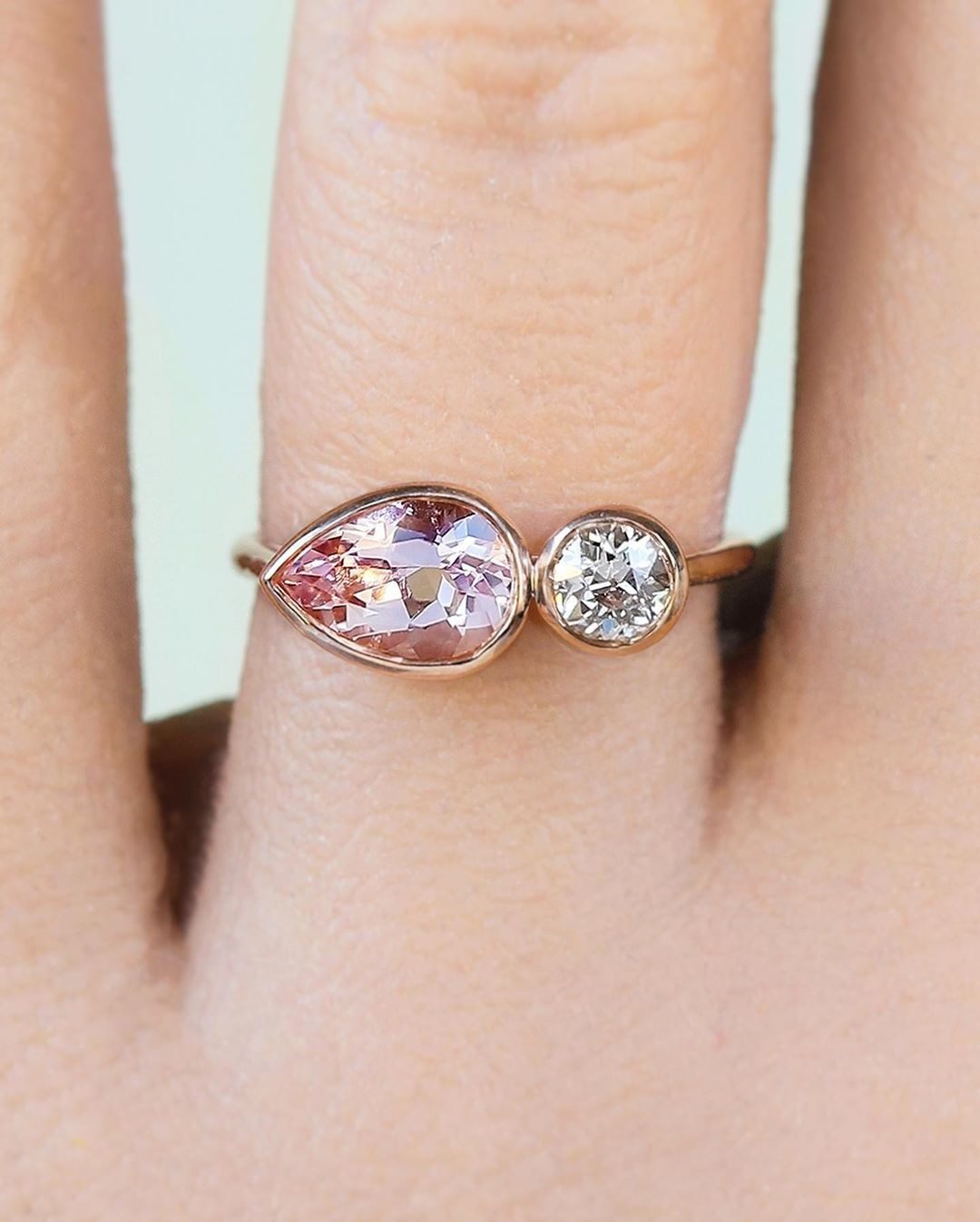 What two gems would your dream ring have? Two for ☕️ Tuesday Toi et Moi ☺️💫✨💕