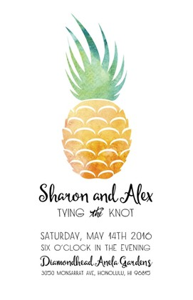 Pineapple Suite Free Printable Wedding Invites